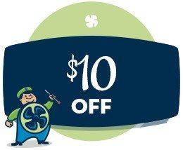 HVAC savings - $10 off coupon