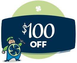 HVAC savings - $100 off coupon
